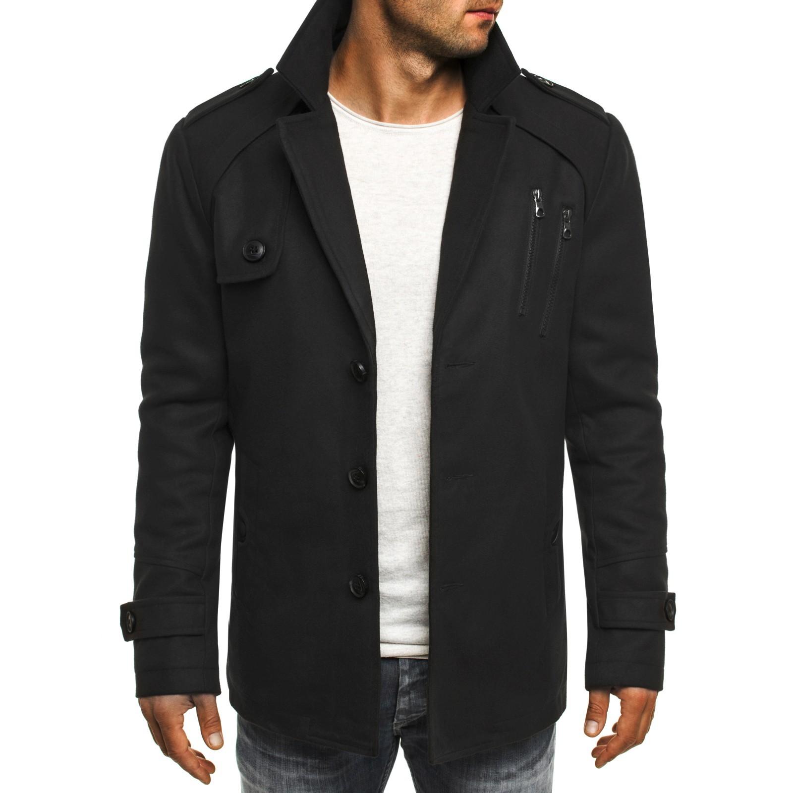 ozonee herren wintermantel mantel winterjacke w rmemantel kapuzenmantel mix ebay. Black Bedroom Furniture Sets. Home Design Ideas